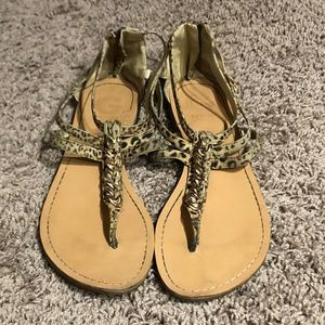 G By Guess Cheetah Print Sandals Size US 9M
